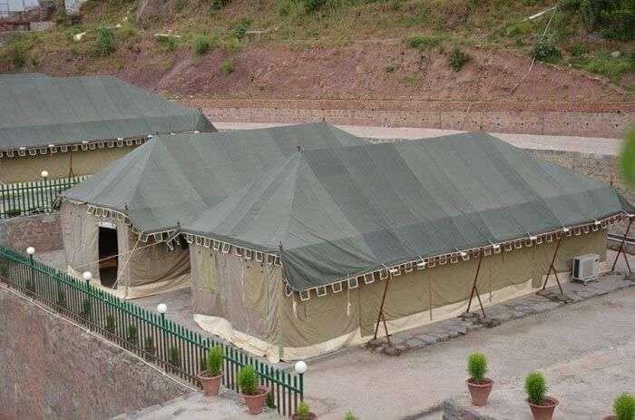 Glamping site at Surya Vilas hill resort near Chandigarh