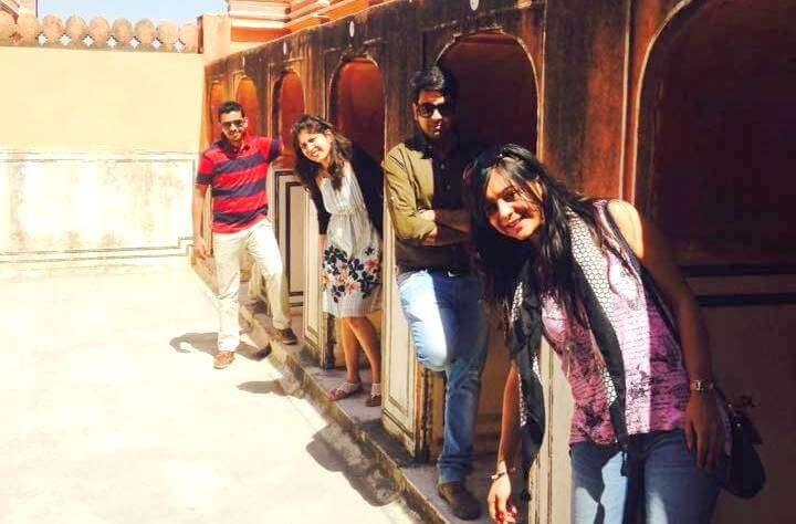 Posing inside Hawa Mahal