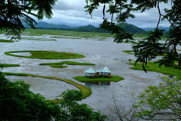 The floating Loktak Lake in Manipur