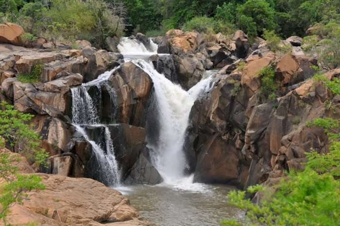 A waterfall at the Lowveld Botanical Garden, Nelspruit