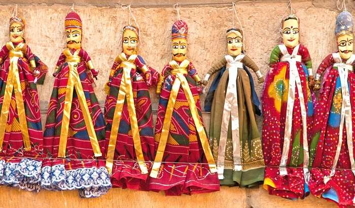 Puppets for sale at Sadar Bazaar