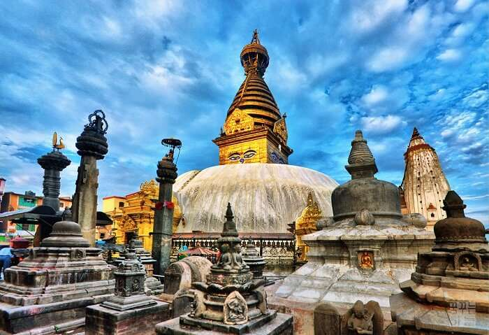 Swayambhunath temple is among the best Nepal places to visit near Kathmandu valley