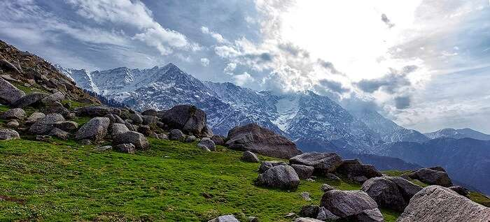 Dhauladhars as seen in November from Triund, Dharamsala