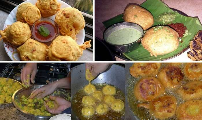 Batata vada and its preparation in images