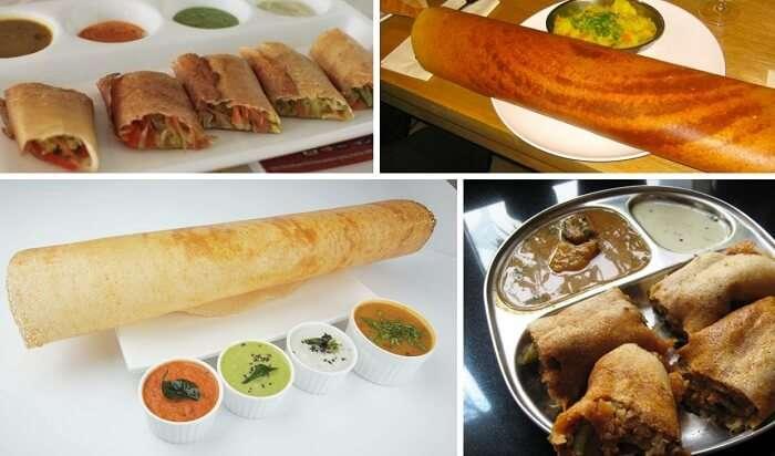 The popular dosas and Mysore Masala Dosa from Mumbai