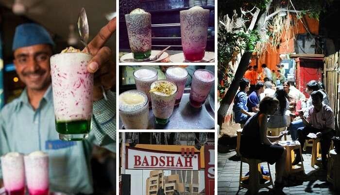 Best falooda in Mumbai is sold at Badshah Corner