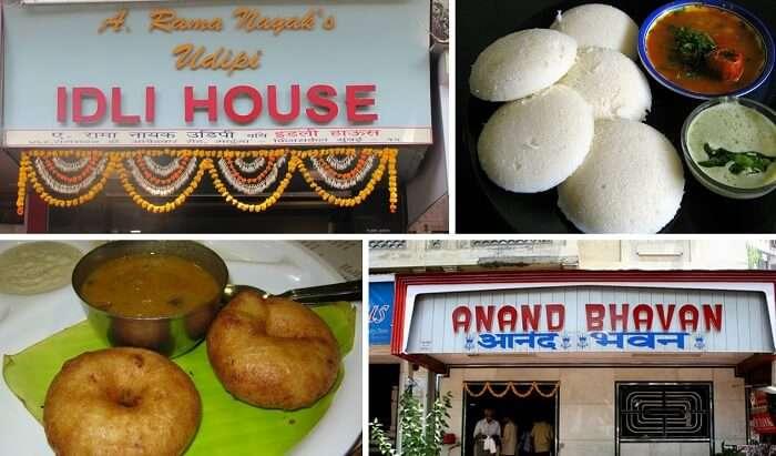 Steamed idlis and vadas are popular breakfast street foods in Mumbai