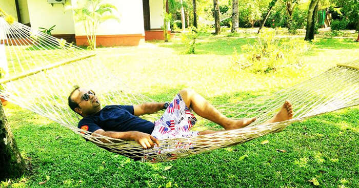 An engineer relaxing on his Kerala trip