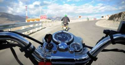 Gliding the roads on our Royal Enfield Bullets
