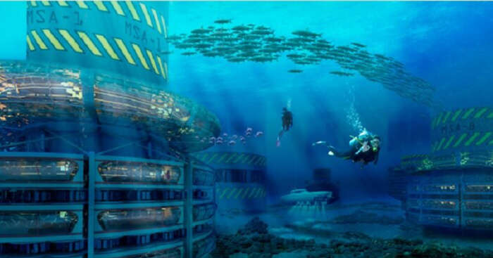 A planned underwater hotel and city