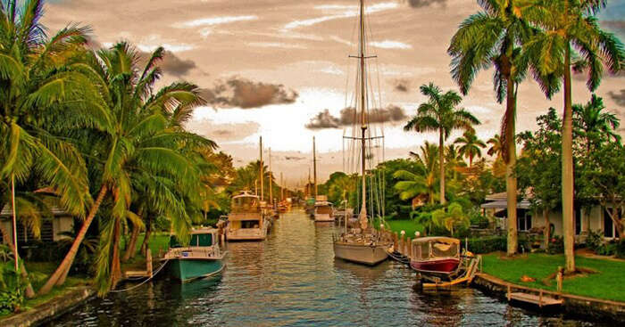 The stunning canal city of Ft Lauderdale in Florida