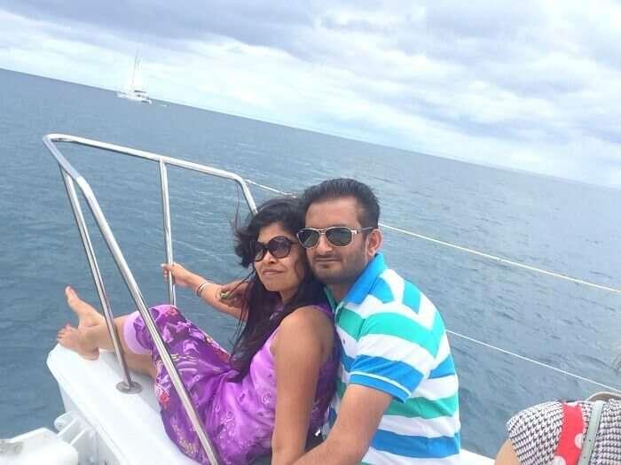 The beautiful view from the Catamaran cruise
