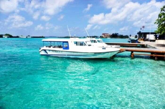 Speed Boat in Maldives