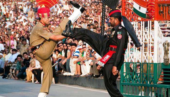 Officers At Wagah Border Ceremony