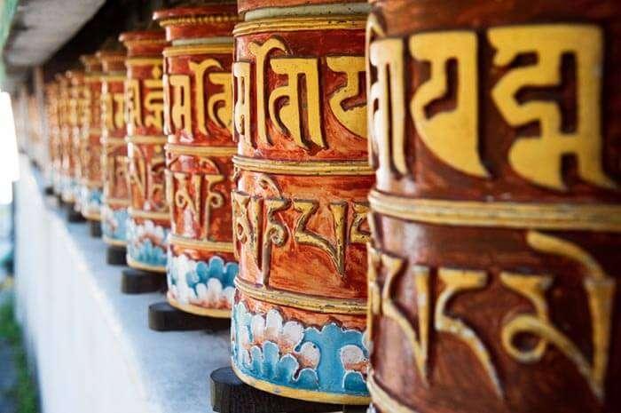 The Prayer Wheels at Zang Dhok Palri Phodang monastery, Darjeeling