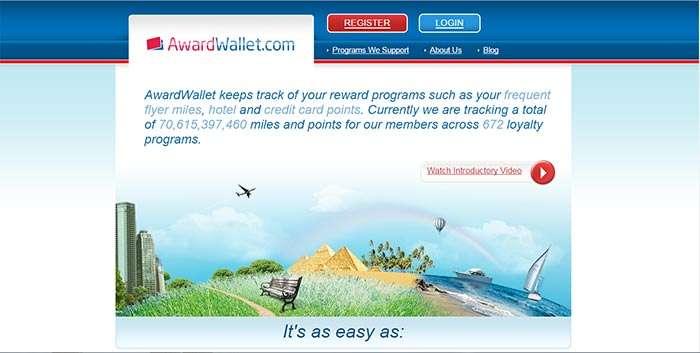 Usage of Award Wallet to track credits