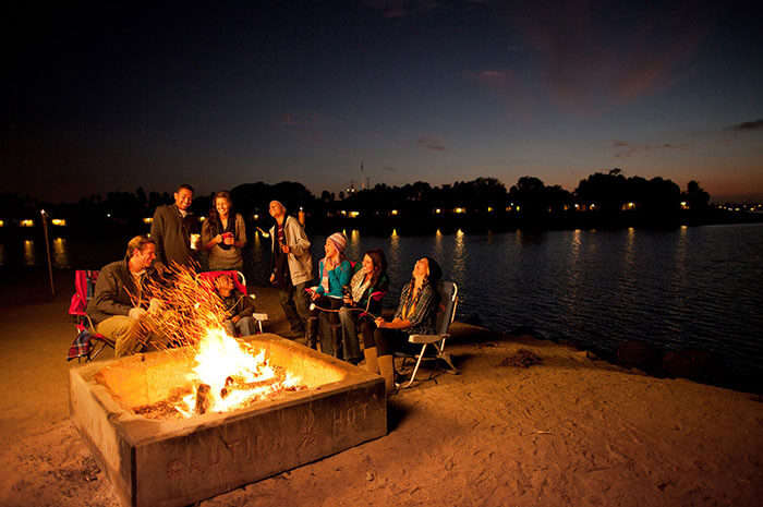 Bonfire with friends is free