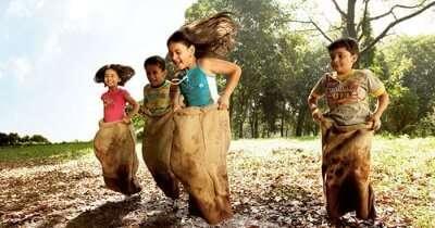 Children having fun in mud