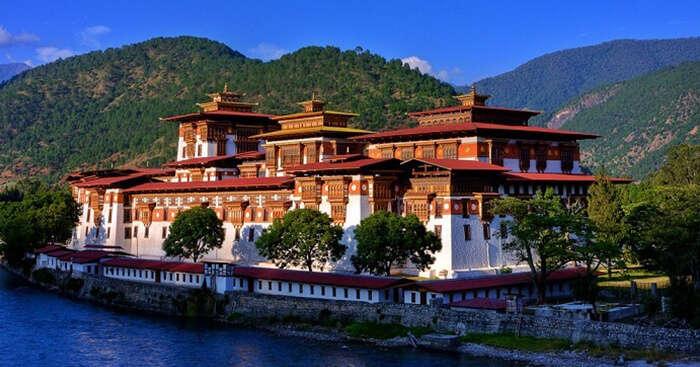A beautiful shot at the Punakha Dzong