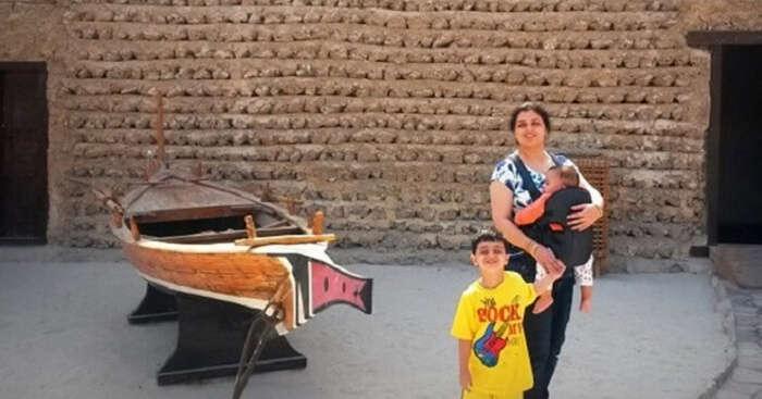 The Huda family on a Dubai tour