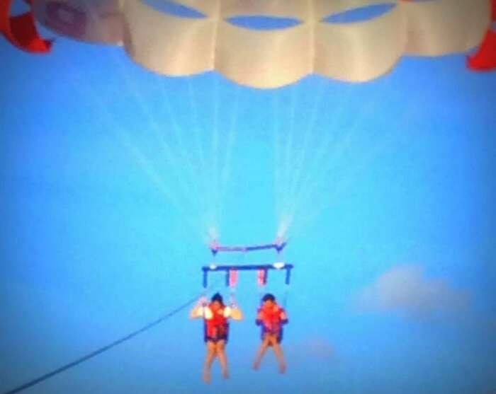 paragliding in Maldives