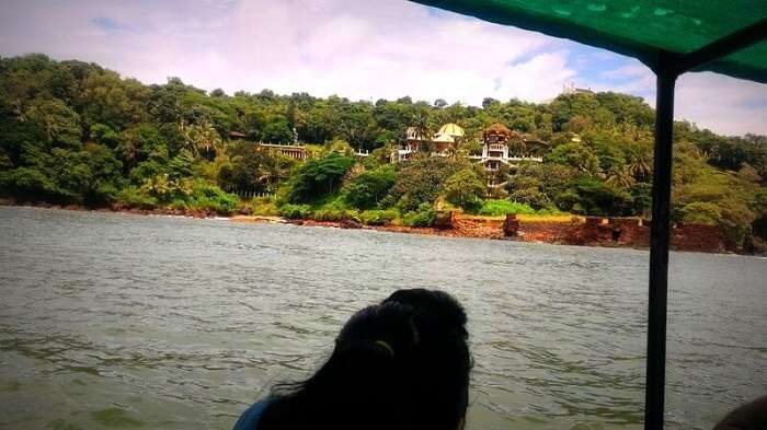 A view of Jimmy Kardeka's Bungalow from the boat