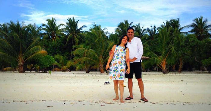 Sanjay on a romantic trip to Maldives