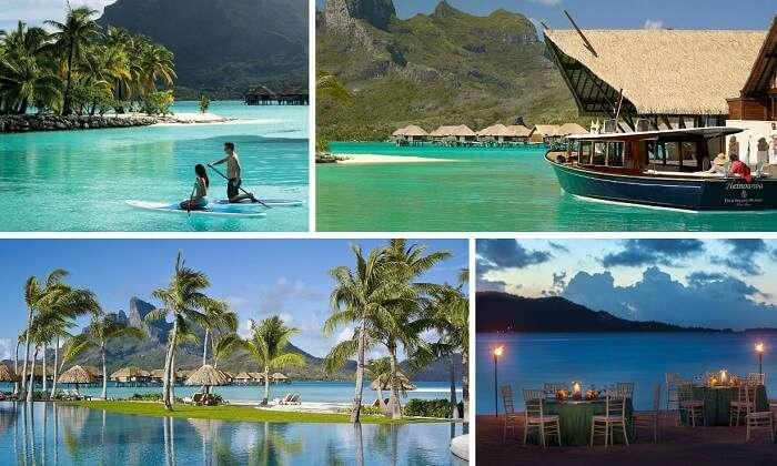 Many views from the Four Seasons Resort in Bora Bora