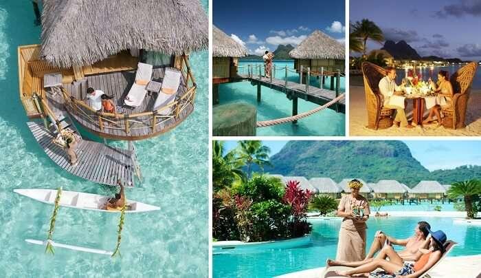 Many views from the Pearl Beach Resort in Bora Bora