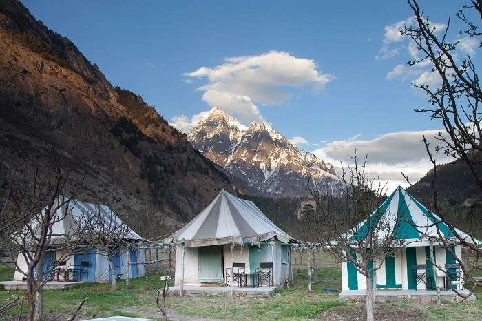 The romantic camping site at Basteri in Himachal
