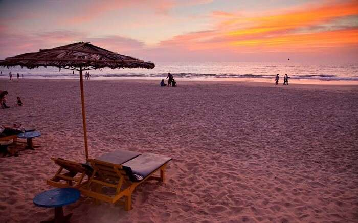 Sunset view from the shores of Benaulim Beach
