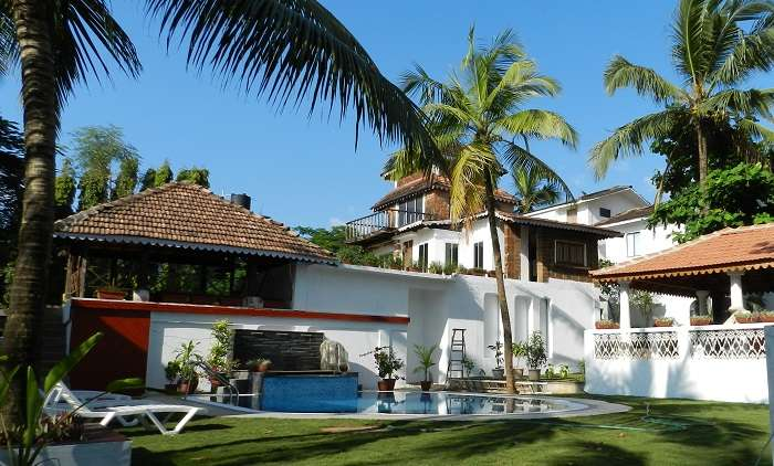 Colonia Santa Maria is a beautiful hotel in Goa near Baga Beach