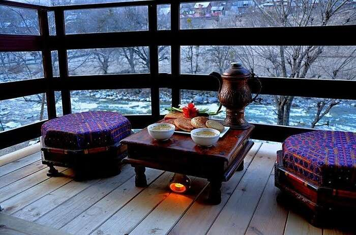 The contemporary settings with stunning view are unique to Hotel Villa Himalaya