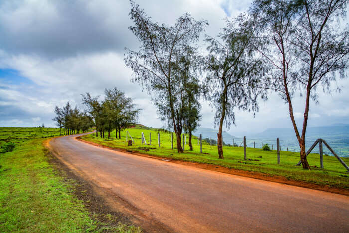 A road in Mahabaleshwar