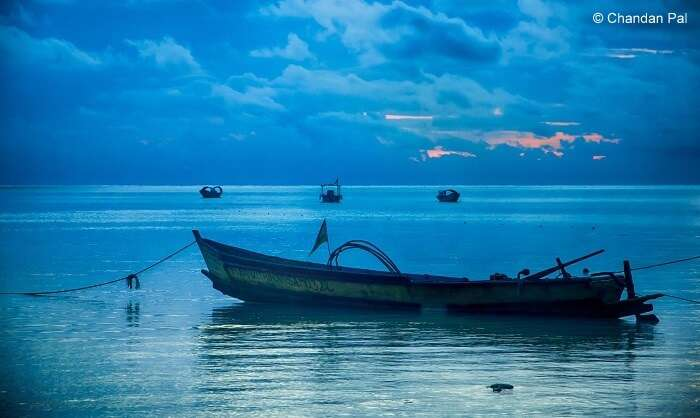 a desolated boat at the beach in Andaman