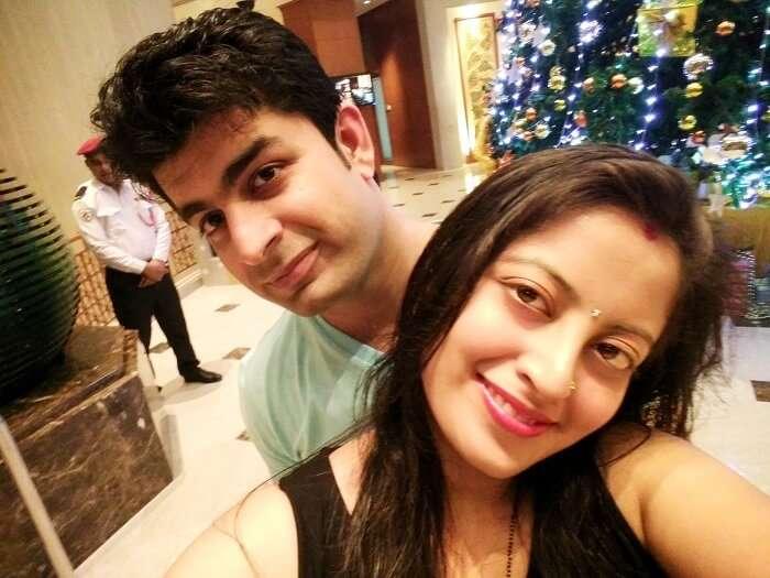 Flying Back to India - Hotel Lobby