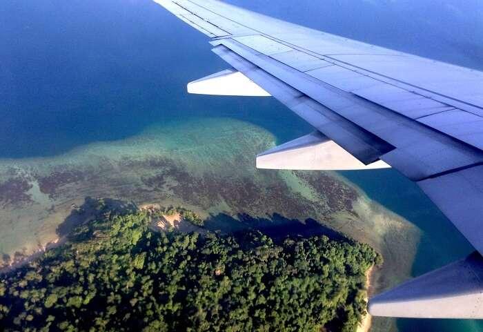 Birds eye view of Andaman islands