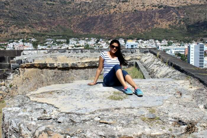 Chiranth's wife visiting the Northern part of Mauritius