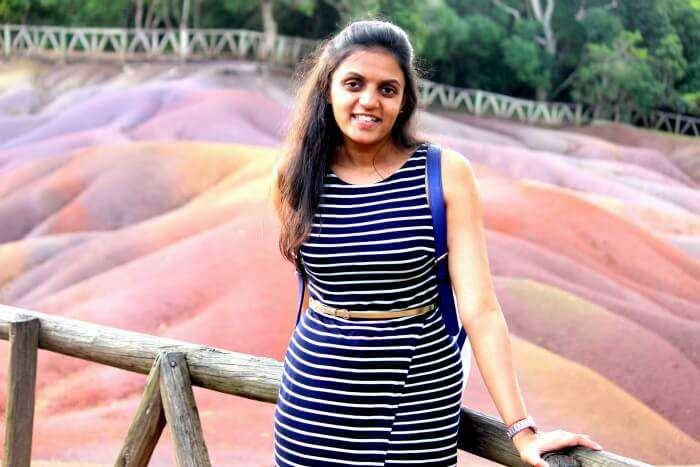 Chiranth's wife at seven coloured earth