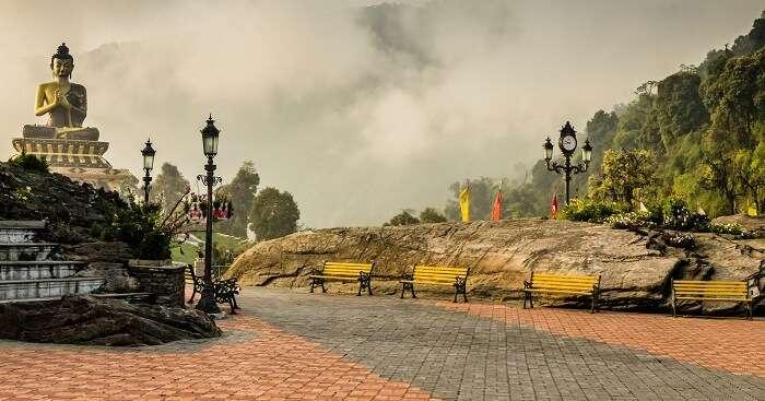 the picturesque town of Ravangla in Sikkim