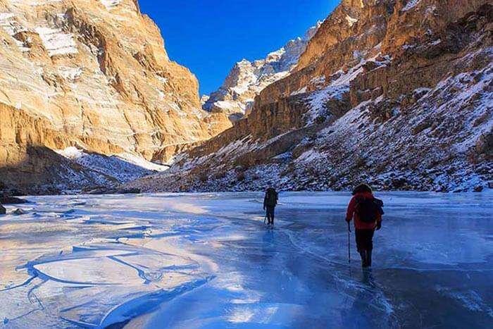 Chadar Trek in Ladakh is called the frozen ice trek
