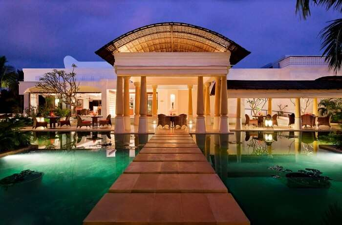 Poolside restaurant at Vivanta by Taj - one of the best beach resorts in Kerala