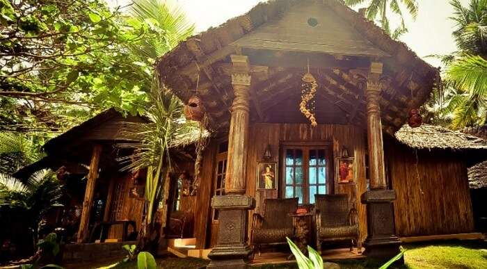 A beautiful cottage at the Woodhouse Beach Resort in Varkala