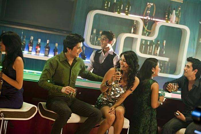 The interiors of a classy lounge in Delhi