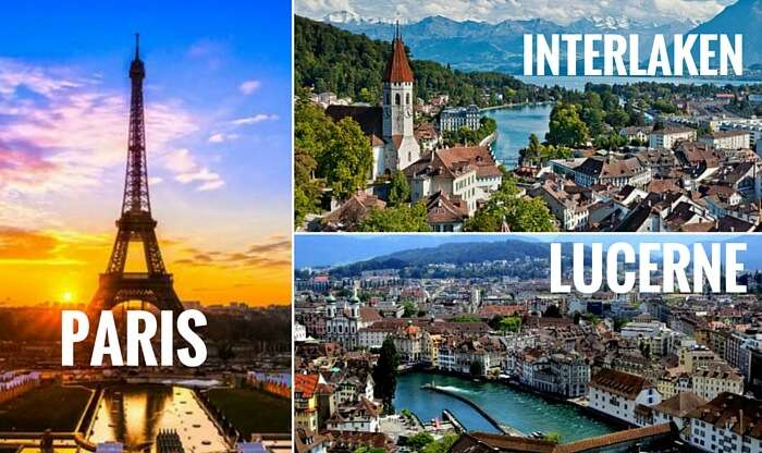 Take one of the most popular Europe trip through Switzerland and France