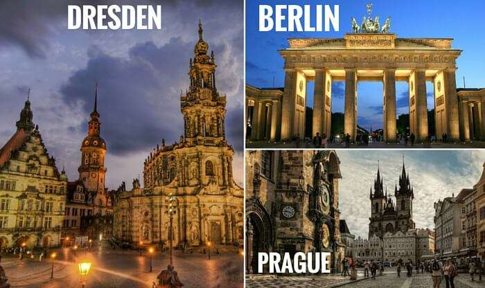 A collage of the cities covered in your Euro trip through the Central Europe