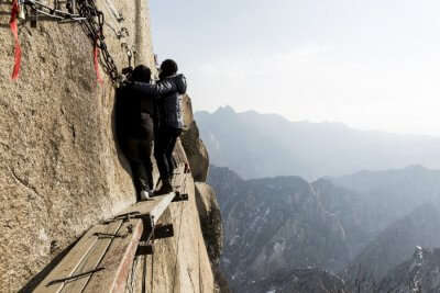 Mount Huashan Dangerous hiking