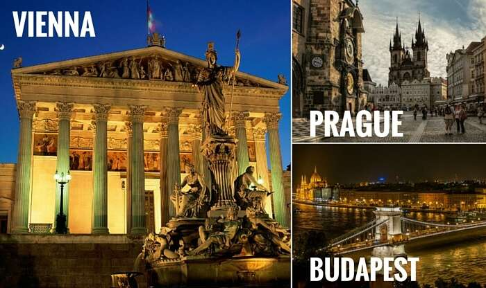 A collage of the cities covered in your Euro trip through the best of Eastern Europe