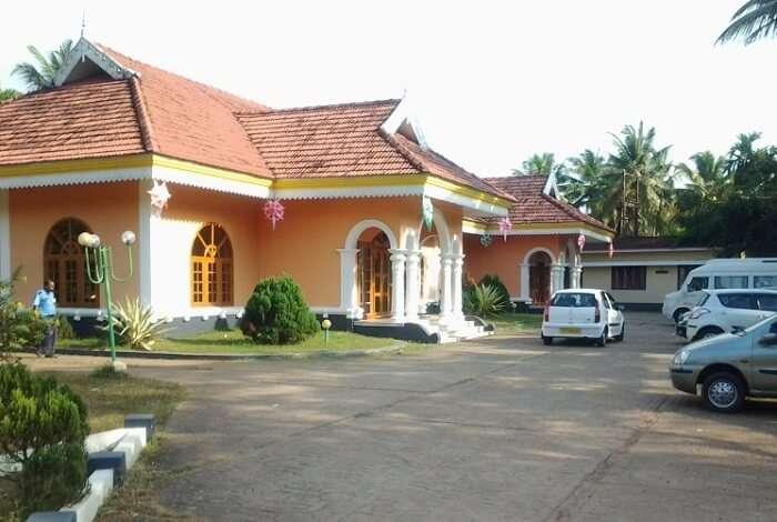 A view of the entrance at the Lakshmi Resort Kumarakom