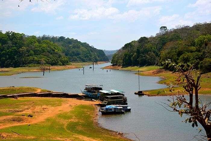 The famous tourist destination in Thekkady